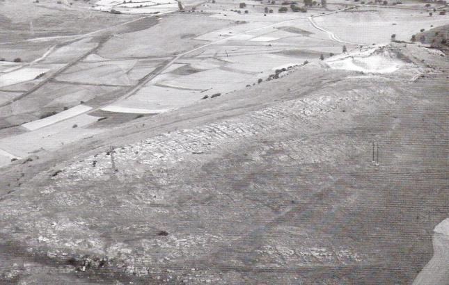 Vista aérea del Campamento de La Loma (Peralta)