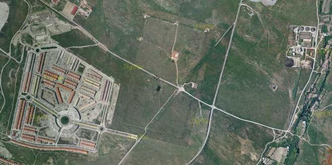 Vista aérea de Cáceres el Viejo.